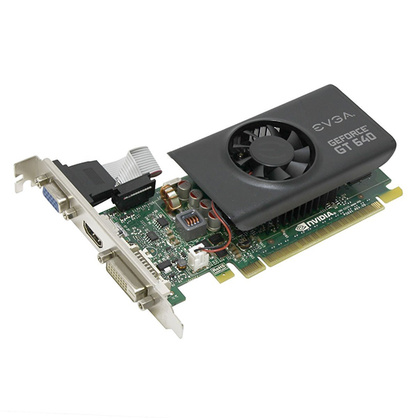 GPU GT 640 1GB DDR5 64BITS PCI-E EVGA LOW PROFILE 01G-P3-2642-KR