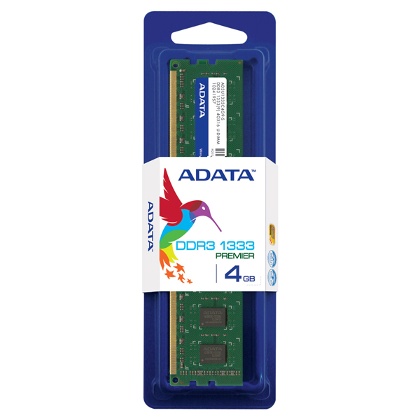 Memoria Adata Udimm 4gb Ddr3 1333mhz - 10242459 - Ad3u1333w4g9-s