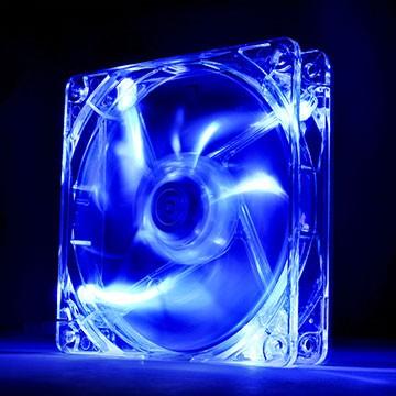 FAN TT PURE 12 TRANSPARENTE C/LED BLUE 1000RPM CL-F012-PL12BU-A