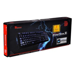 TECLADO TT SPORTS POSEIDON Z ILLUMINATED BLUE SWITCH KB-PIZ-KLBLUS-01