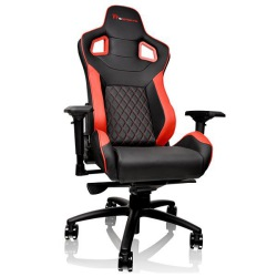 CADEIRA GAMING TT GTF100/BLACK&RED/FIT SIZE/4D/75MM GC-GTF-BRMFDL-01