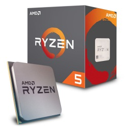CPU AMD RYZEN 5 1600X 3.6GHz / 4.0GHz SIX CORE AM4 YD160XBCAEWOF