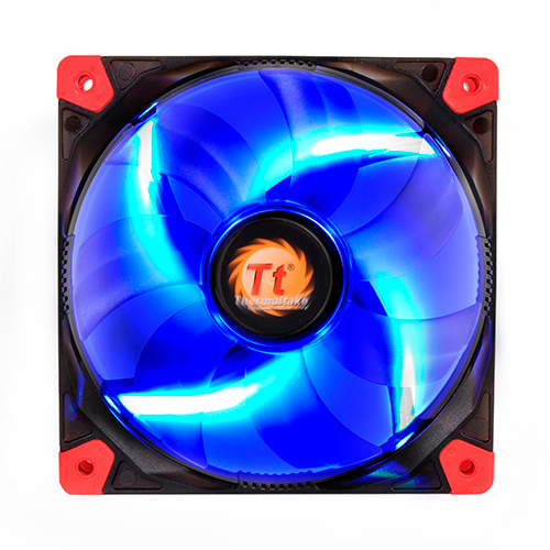 FAN TT LUNA 12 BLACK C/LED BLUE 1200RPM CL-F009-PL12BU-A