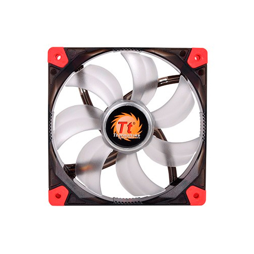 FAN TT LUNA 12 BLACK C/LED RED 1200RPM CL-F017-PL12RE-A