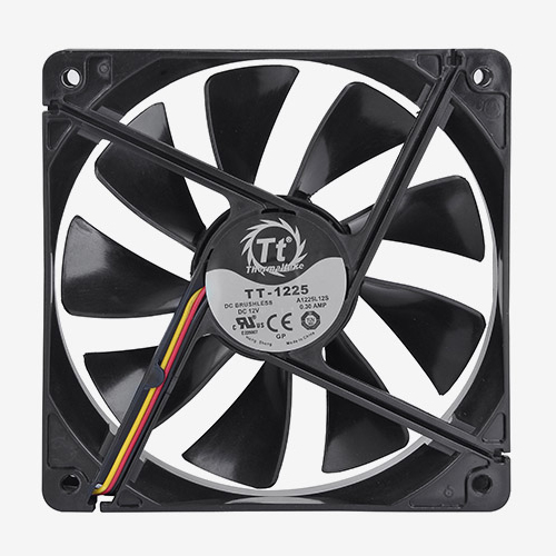 FAN TT PURE 12 BLACK 1000RPM CL-F005-PL12BL-A