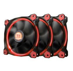 FAN TT RIING 12 LED RADIATOR RED 3 PACK CL-F055-PL12RE-A