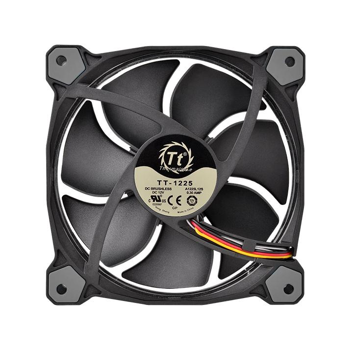 FAN TT RIING 12 RADIATOR FAN 256 COLOR C/3 LED SWITCH CL-F042-PL12SW-B