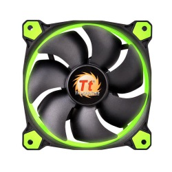 FAN TT RIING 12 RADIATOR FAN LED GREEN 1500RPM CL-F038-PL12GR-A