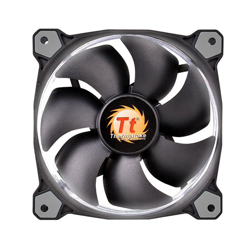 FAN TT RIING 12 RADIATOR FAN LED WHITE 1500RPM CL-F038-PL12WT-A