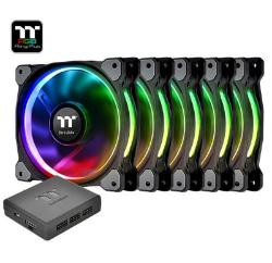 FAN TT RIING+ 12RGB RADIATOR PREMIUM EDIT C/3 LED SWITCH CLF053PL12SWA