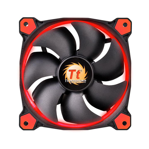 FAN TT RIING 14 RADIATOR FAN LED RED 1500RPM CL-F039-PL14RE-A