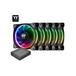 FAN TT RIING PLUS 12 RGB PREM. ED 5 PACK/LED SW CTRL CL-F054-PL12SW-A*