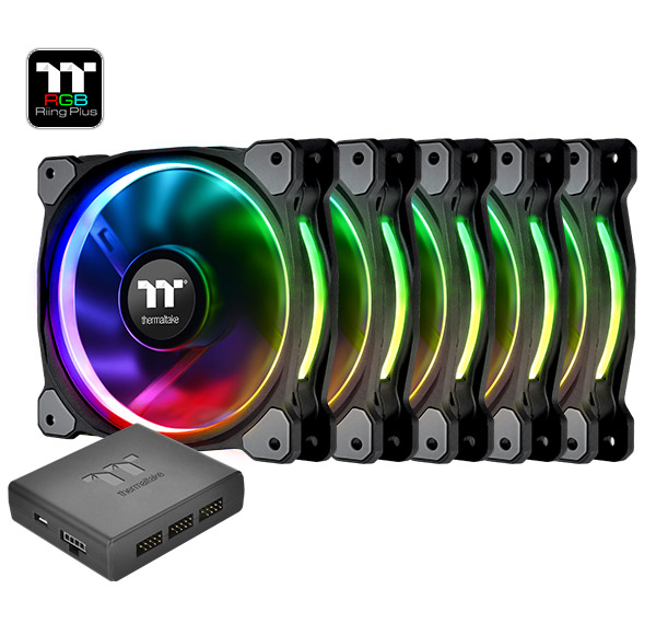 FAN TT RIING PLUS 12 RGB PREMIUM EDITION 5 PACK FAN CL-F054-PL12SW-A