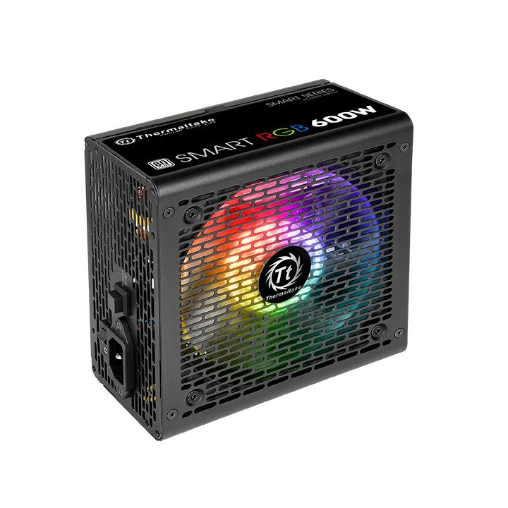 FONTE 600W TT SMART RGB 80+ ALL SLEEVED CABLES PS-SPR-0600NHFAWB-1