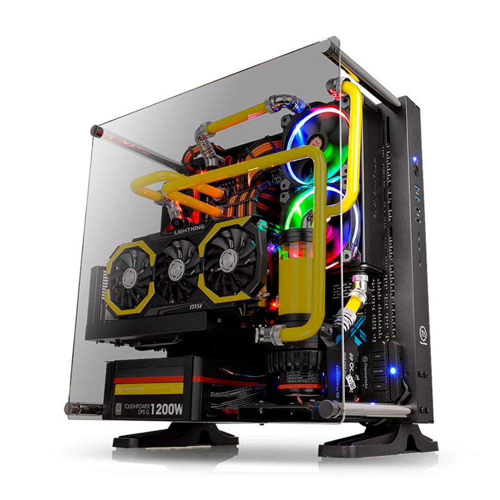 GABINETE TT CORE P3 TG BLK WALL MOUNT SGCC TEMP GLASS1 CA1G400M1WN06*