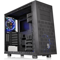 GABINETE TT CORE X31 TG BLACK WIN SECC TEMPERED GLASS CA-1E9-00M1WN-03