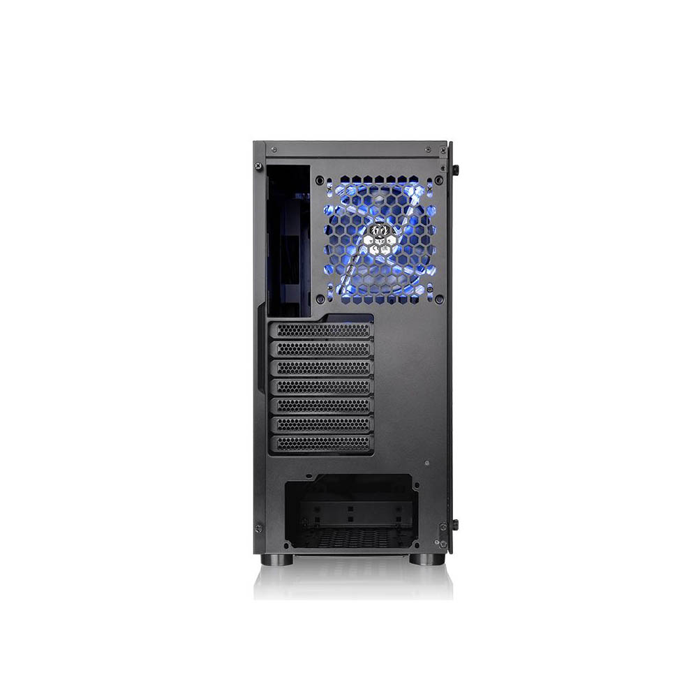 GABINETE TT H100 TG BLACK/SPCC/TEMPGLASS1/120MM BLUE CA-1L4-00M1WN-00*