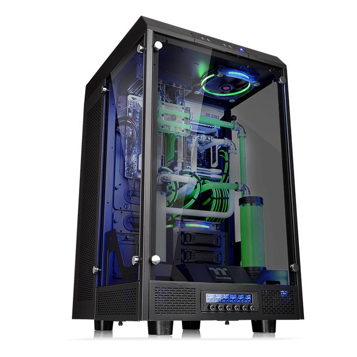 GABINETE TT THE TOWER 900/BLACK/WIN/TEMPERED GLASS CA-1H1-00F1WN-00