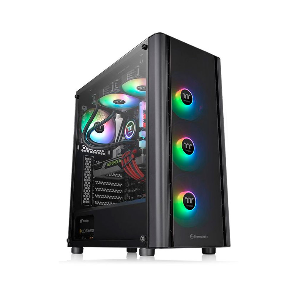 GABINETE TT V250 TG ARGB/BLACK/SPCC/TEMP.GLASS*1 CA-1Q5-00M1WN-00*