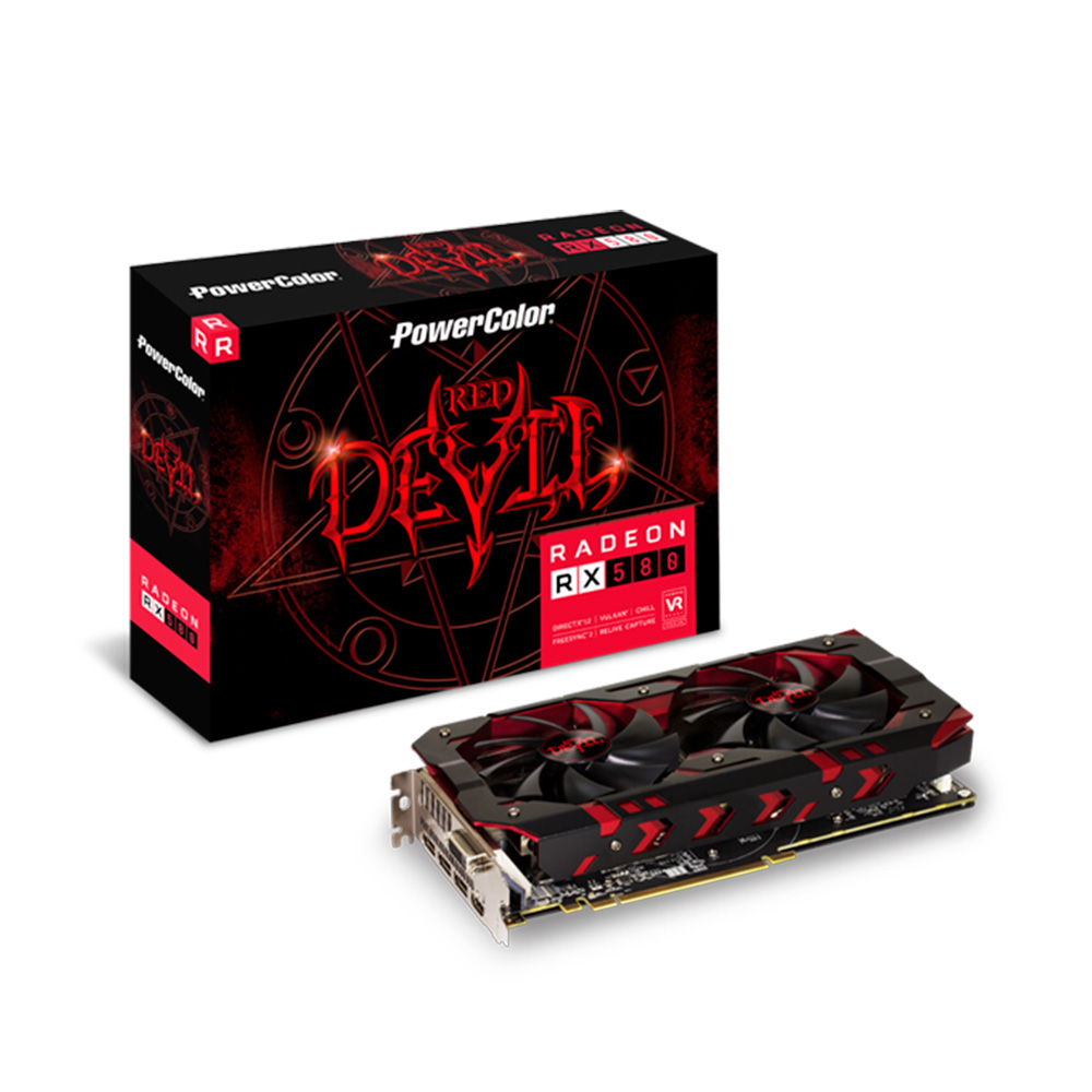 GPU AMD RX 580 8G RED DEVIL POWER COLOR AXRX580 8GBD53DHOC 1A1G281900G