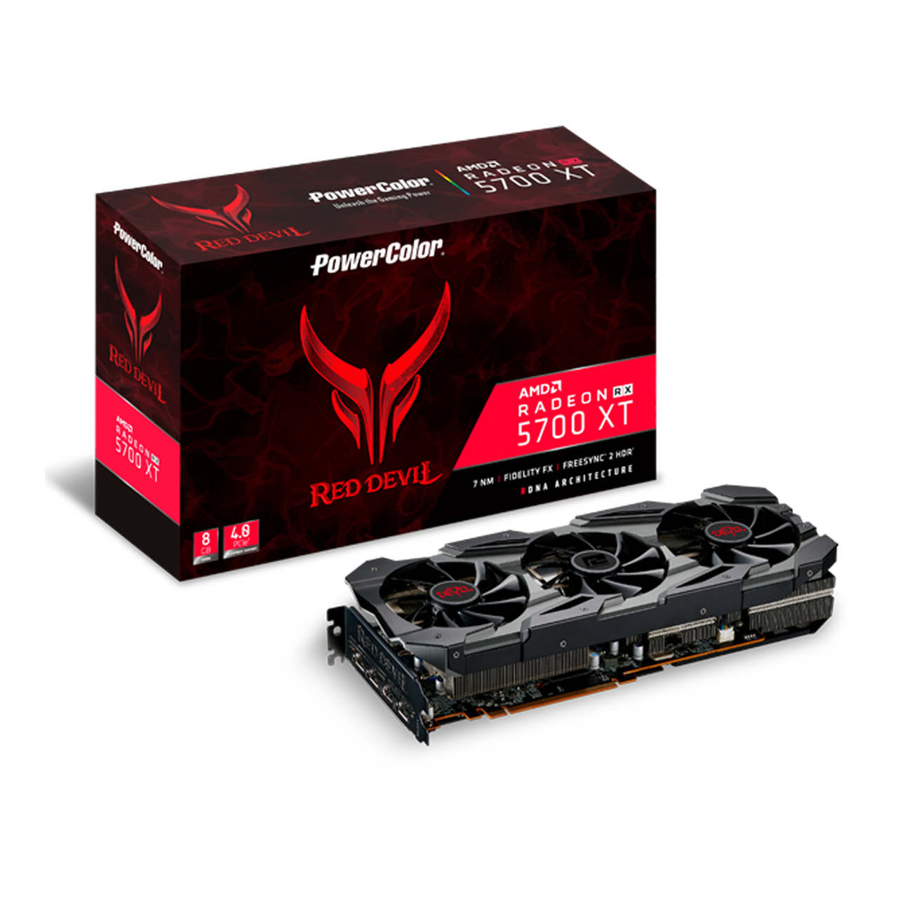 GPU AMD RX5700 XT 8GB D6 POWER COLOR 8GBD6-3DHE/OC 1A1-G00321100G
