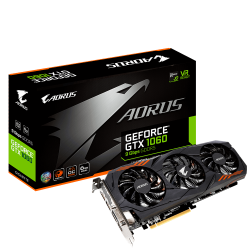 GPU GTX1060 6GB AORUS WINDFORCE 3X DDR5 GIGABYTE GV-N1060AORUS-6GD