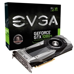 GPU GTX1080TI 11GB FOUNDERS EDITION DDR5 EVGA 11G-P4-6390-KR