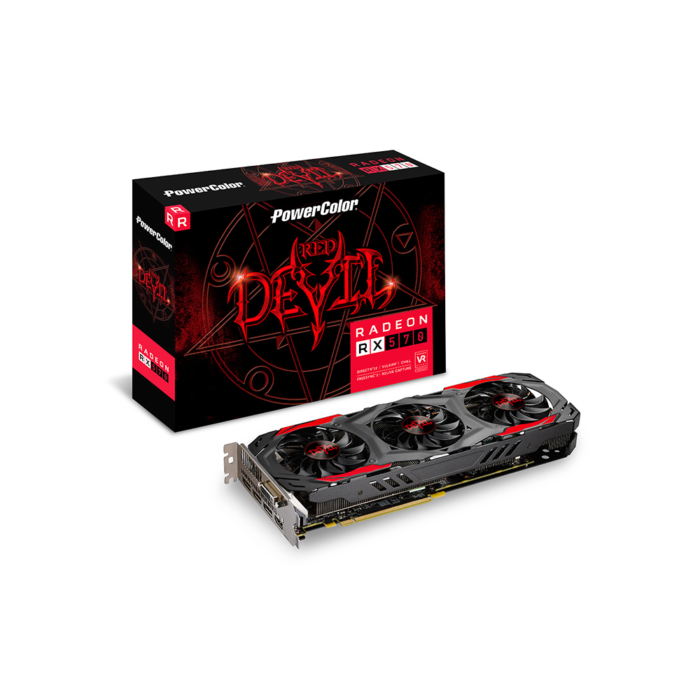 GPU RX 570 4GB RED DEVIL POWER COLOR AXRX 570 4GBD5-3DH/OC