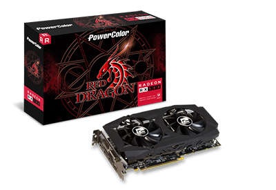 GPU RX 580 8GB RED DRAGON POWER COLOR AXRX 580 8GBD5-3DHDV2/OC