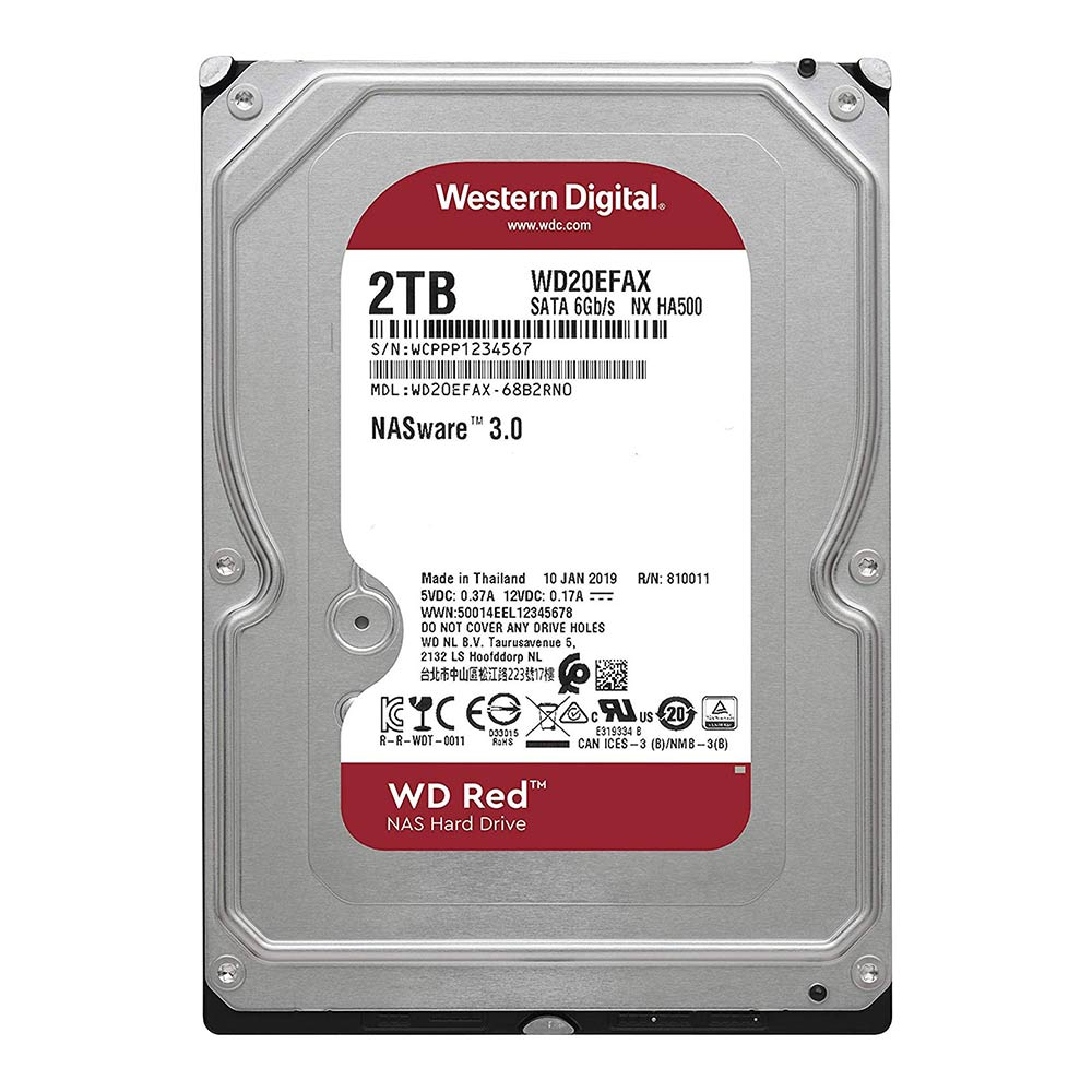 "HD 2TB WD RED 3,5"" SATA 6GB/S WD20EFAX"