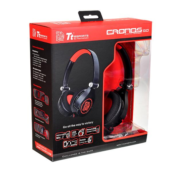 HEADSET TT SPORTS CRONOS GO BLACK/USB LED PLUG HT-CRG-ANOEBK-15