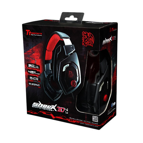 HEADSET TT SPORTS SHOCK 3D 7.1 USB BLACK HT-RSO-DIECBK-13