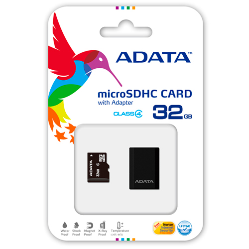 13031547 Memory Card Adata Class4 Micro Sdhc C/adapt S