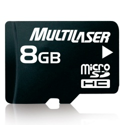 MEMORY CARD MICROSD MULTILASER 8GB C/ADAPT. MC004