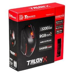 MOUSE+MOUSEPAD TT SPORTS TALON X OPTICAL/OMRON/BLACK MO-CPC-WDOOBK-01*
