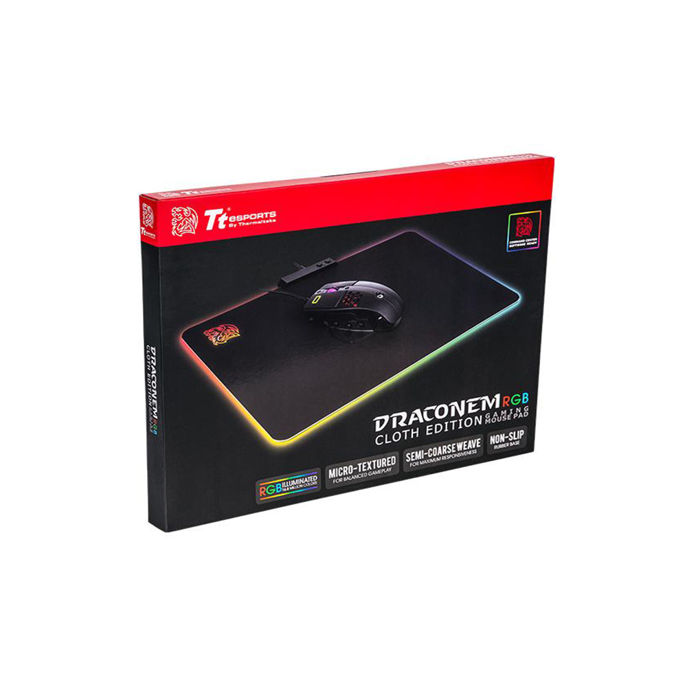 MOUSEPAD TT ESPORTS DRACONEM RGB CLOTH EDITION MP-DCM-RGBSMS-01