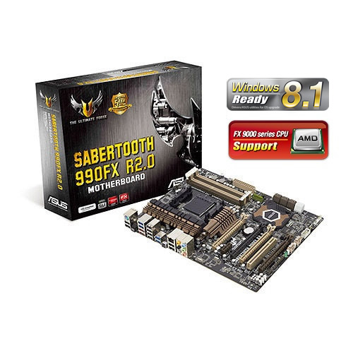PLACA MÃE ASUS SABERTOOTH 990FX R2.0 AMD AM3+ USB3 90-MIBJA0-G0EAY0VZ