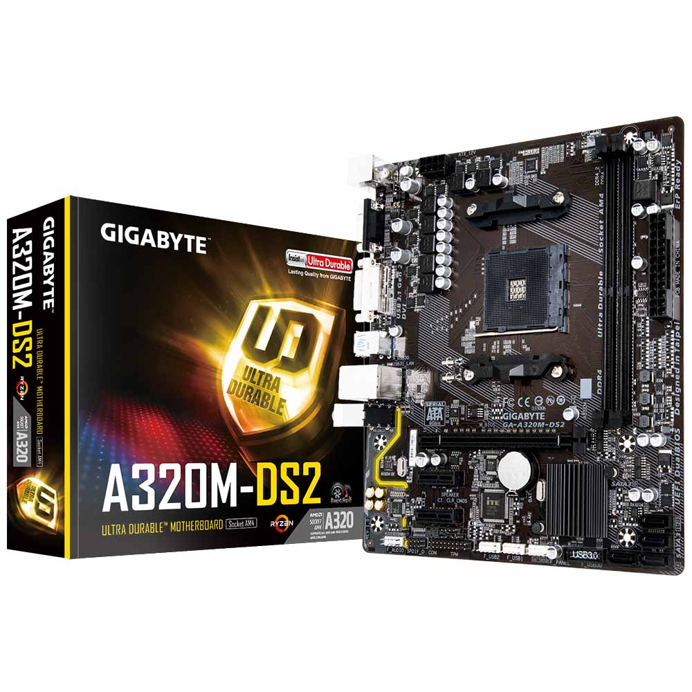PLACA MÃE GIGABYTE A320 AMD AM4 GA-A320M-DS2