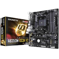 PLACA MÃE GIGABYTE AB350M-DS3H V2 LED AMD 9MAB35HV2-00-11
