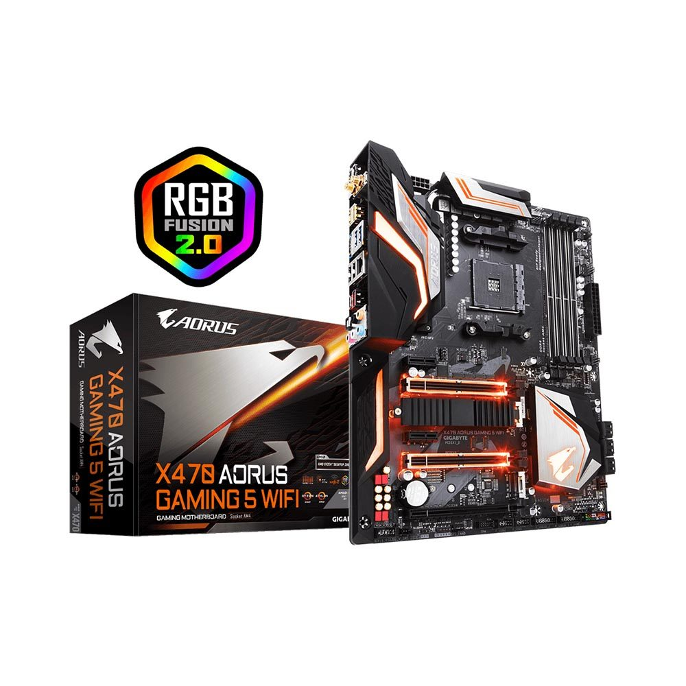 PLACA MÃE GIGABYTE X470 AORUS GAMING 5 WIFI AMD