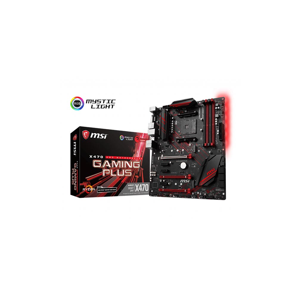 PLACA MÃE MSI X470 GAMING PLUS AMD RYZEN 7/SOCKET AM4 911