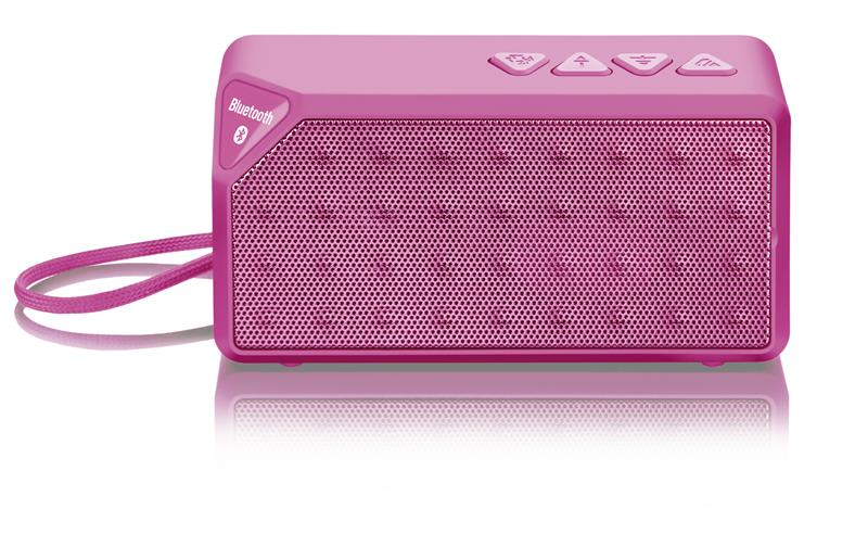 SPEAKER MULTILASER BLUETOOTH 10W RMS ROSA MICRO SD (SP175)