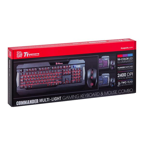 TECLADO+MOUSE TT SPORTS COMMANDER COMBO/MULTI BACKLIT KB-CCM-PLBLPB-01